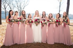 "My girls were so great throughout the whole process. ""Williams Wedding Clan"""
