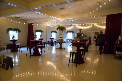 My Aunt Jolie, Lela, Johnnie Lou, and Bama did a great job transforming this into a dreamy reception hall. They are great!